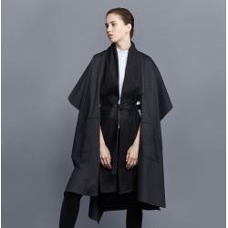 Coatl Black Poncho