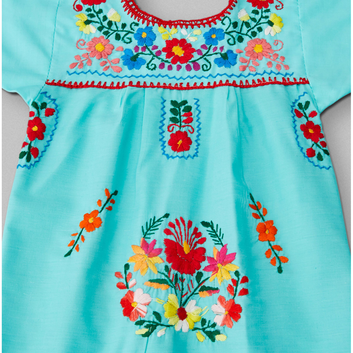 Vestido Tehuacán Color Verde Agua